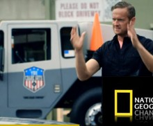 The Crane Guys gives NatGeoTV's Tim Shaw a crane lift