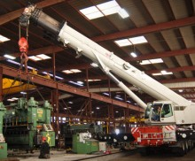 Safety and Precision on indoor 200 Ton crane job