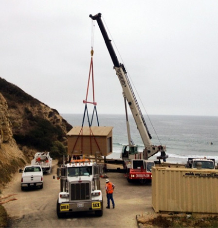 crane rental - Black's Beach , San diego, CA