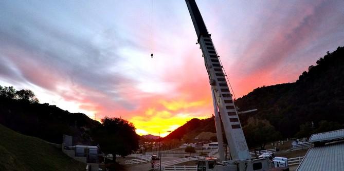 24-hour emergency crane service