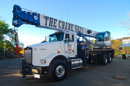 Boom Truck Crane Rental