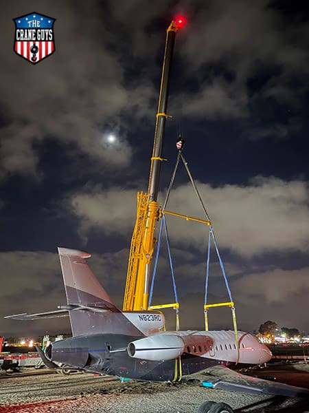 Crane Company Service for Lifting Planes