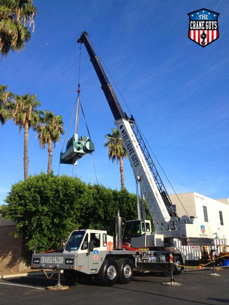 Crane Service for Installing Mechanical Equipment