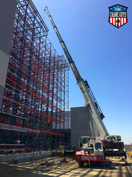 Crane Service for Installing Structural Steel