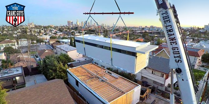 Crane for Modular Buildings