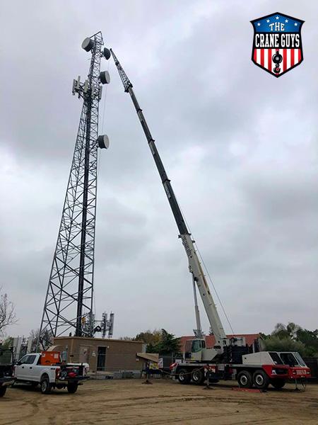 Cranes for 5g Antenna Telecom Installation