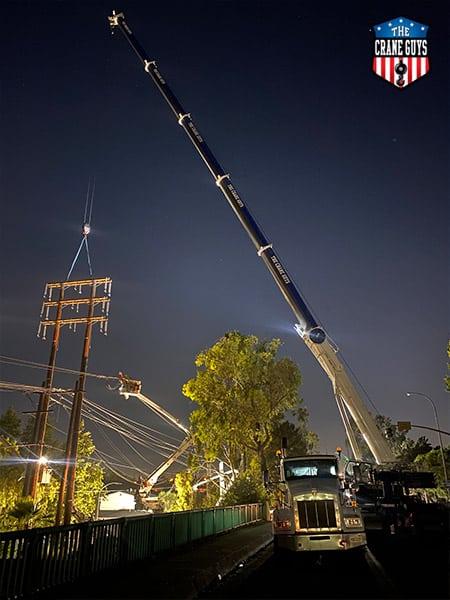Power Line Crane Reach Service