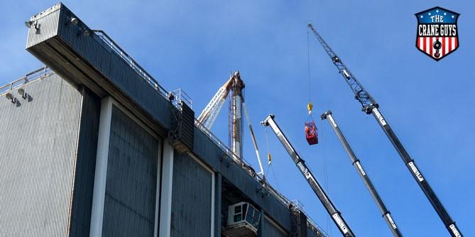 Temporary Suspended Platform and Crane Rental